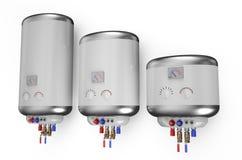 Elektrisk vit kokkärl, vattenvärmeapparat 2 vektor illustrationer