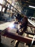 elektrisk welder Fotografering för Bildbyråer