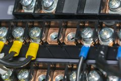 elektriska anslutningar Royaltyfri Fotografi