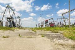 Elektriska avdelningskontordelar Royaltyfria Foton