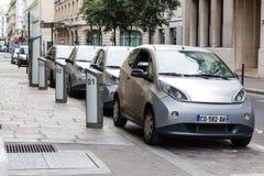 elektriska bilar Arkivbilder