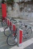 Elektriska cyklar Royaltyfria Bilder