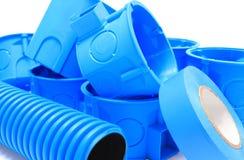 Elektriska delar för bruk i elektriska installationer Arkivfoton