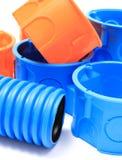 Elektriska delar för bruk i elektriska installationer Royaltyfri Fotografi