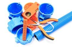 Elektriska delar för bruk i elektriska installationer Royaltyfria Bilder
