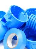 Elektriska delar för bruk i elektriska installationer Arkivbild