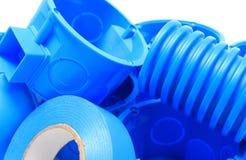 Elektriska delar för bruk i elektriska installationer Arkivfoto