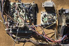 elektriska deltrådar för bil Arkivfoton