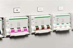 elektriska fuseboxeslinjer driver switchers Royaltyfri Bild