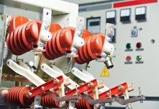 elektriska fuseboxeslinjer strömswitchers Royaltyfri Bild