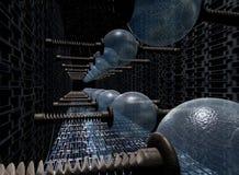 elektriska generatorer Arkivbild