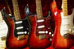 Elektriska gitarrer Arkivbild