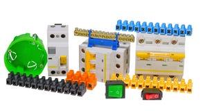 Elektriska hjälpmedel och del- sats som ska användas i elektrisk installa Royaltyfria Foton