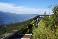 elektriska industriella linjer pipelinesström Royaltyfri Fotografi