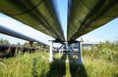 elektriska industriella linjer pipelinesström Royaltyfria Foton