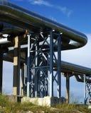 elektriska industriella linjer pipelinesström Arkivbild