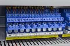 elektriska industrirelays Arkivfoto