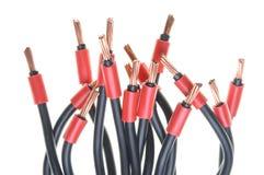 Elektriska kablar Fotografering för Bildbyråer