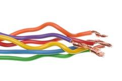 Elektriska kablar av maktsystem Arkivbilder