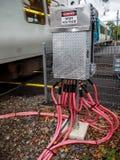 Elektriska kablar för spänningsmakt Royaltyfri Fotografi