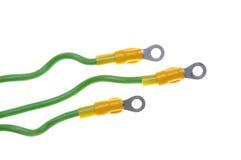 Elektriska kablar med terminaler Arkivbilder