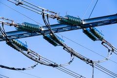 Elektriska keramiska isolatorer för omformarstation Royaltyfria Foton