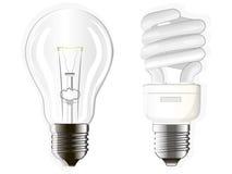 Elektriska lampor stock illustrationer