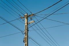 elektriska linjer Royaltyfri Fotografi