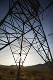 elektriska linjer ström arkivfoto
