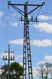 elektriska poler Royaltyfri Fotografi