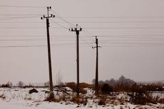 elektriska poler Fotografering för Bildbyråer