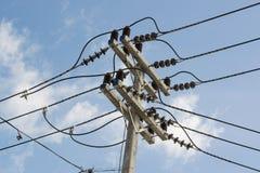 elektriska poler Arkivbild