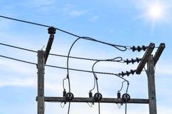 Elektriska poler av hög spänning Royaltyfria Bilder