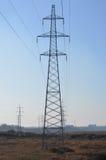 Elektriska poler och nätverk I Fotografering för Bildbyråer