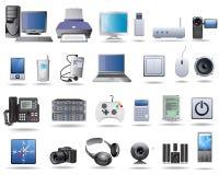 Elektriska produkter för ny teknik Fotografering för Bildbyråer