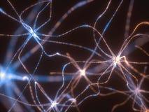 Elektriska pulsar för Neurons stock illustrationer