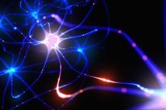 Elektriska pulsar för Neurons royaltyfri illustrationer