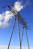 Elektriska pylons Royaltyfri Fotografi