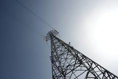 elektriska pylons arkivbild
