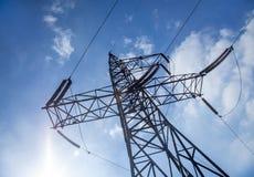 elektriska pylons royaltyfri bild