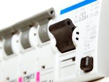 elektriska säkringar Arkivbild