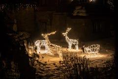 Elektriska skulpturer av deers Royaltyfri Bild