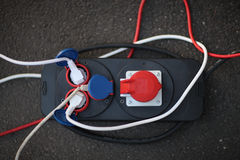 elektriska stickkontakter Royaltyfria Foton