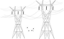 Elektriska stolpefördelare Royaltyfri Fotografi