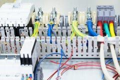 Elektriska terminaler och strömkretssäkerhetsbrytare Royaltyfri Bild