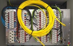 Elektriska terminaler och trådar Royaltyfri Fotografi