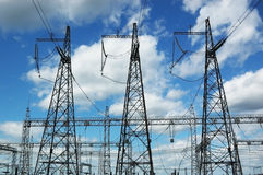 elektriska torn royaltyfri fotografi