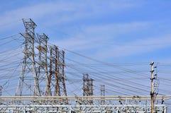 elektriska torn Fotografering för Bildbyråer
