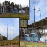 Elektriska trådar Fotografering för Bildbyråer