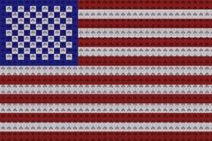 Elektriska uttag i färgerna av flaggan av USA royaltyfri foto